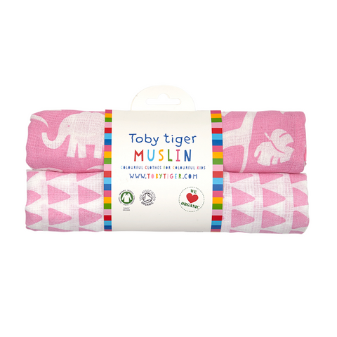 Set 2 Swaddle in Mussola Giungla Rosa | TOBY TIGER | RocketBaby.it