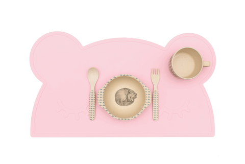 Tovaglietta in Silicone Orso Rosa | WE MIGHT BE TINY | RocketBaby.it
