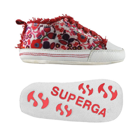 Sneakers Baby Superga Con Lacci Flower Red | SUPERGA | RocketBaby.it