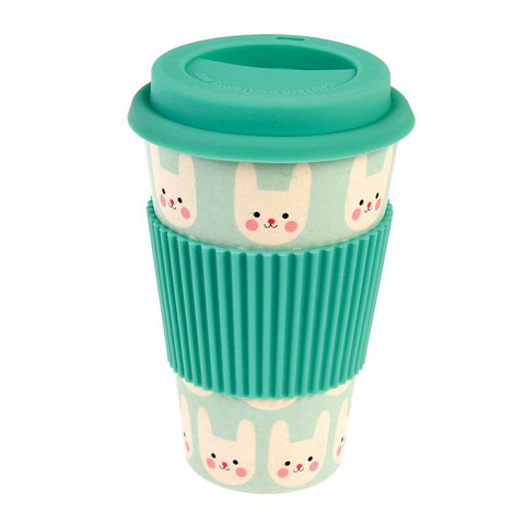 Mug In Bamboo Con Coperchio Bonny The Bunny | REX LONDON | RocketBaby.it