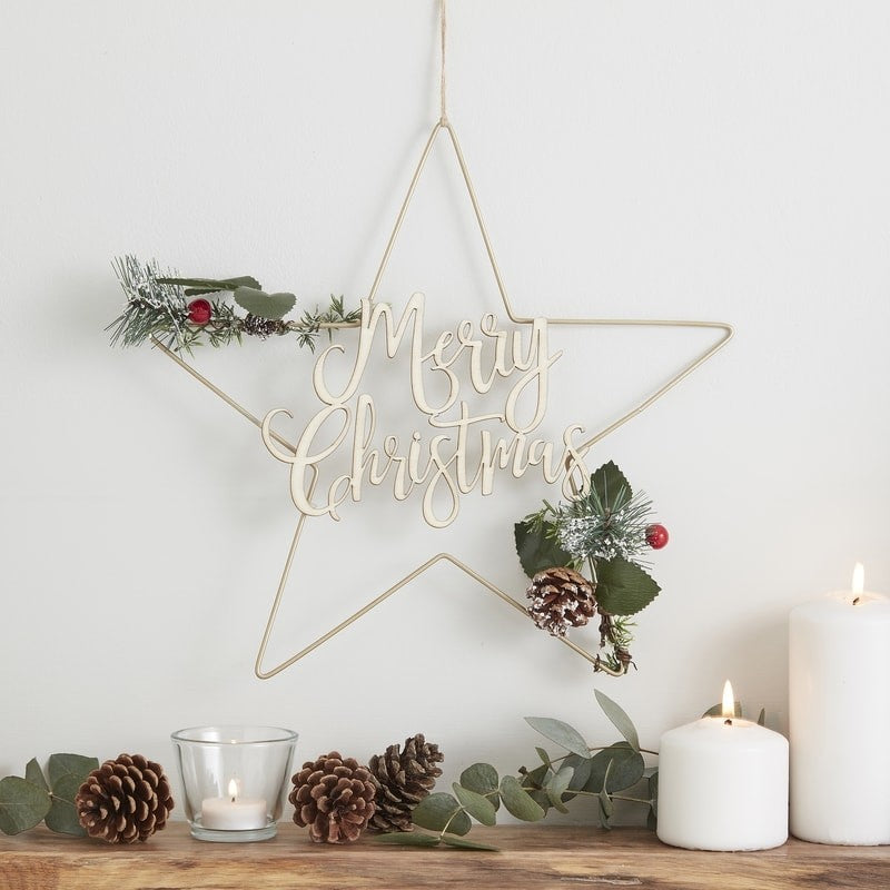 Decorazione da Muro Star Foliage Merry Christmas | GINGER RAY | RocketBaby.it
