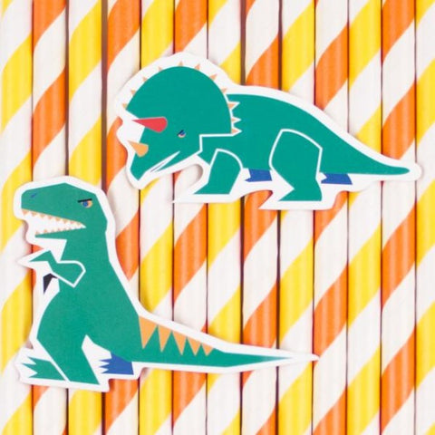 12 Cannucce di Carta Dinosaur | MY LITTLE DAY | RocketBaby.it