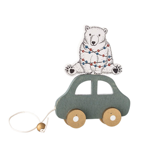 Decorazione Natalizia Automobile con Orso | BLOOMINGVILLE | RocketBaby.it