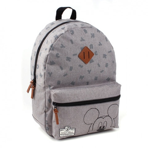 Zaino Grande Mickey Mouse Pattern 90th Anniversary | DISNEY BAGS | RocketBaby.it