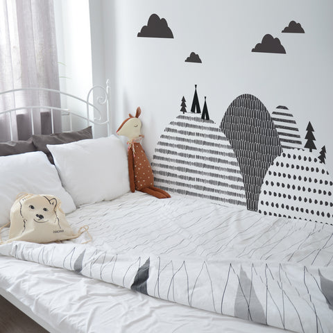 Set Stickers da Muro Montagne Scandinave | DEKORNIK | RocketBaby.it