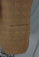 Vintage Action Tailored By Rough Rider Brown Polyblend Checkered Blazer - 44 pocket