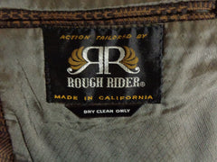 Vintage Action Tailored By Rough Rider Brown Polyblend Checkered Blazer - 44 tag