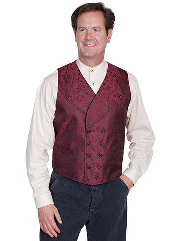 New Scully Range Wear Burgundy Double Breasted Elegant Old West Victorian Steampunk Gentleman's Vest