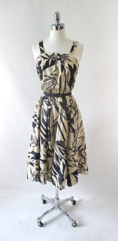 Vintage 70's Bamboo Print Summer Sundress Dress