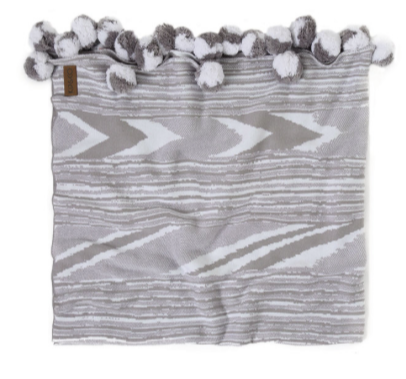 Kip & Co Zebby Grey Cot Blanket