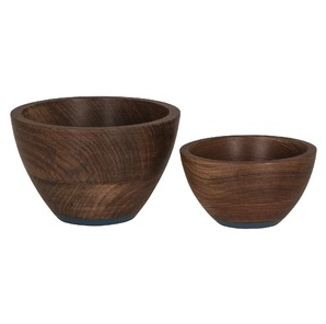 Umber Wooden Bowl Set