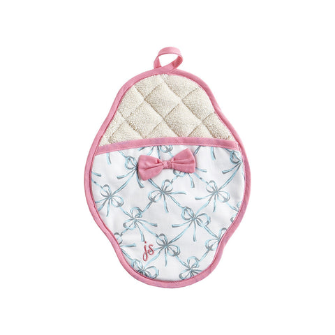 Bella Bows Scalloped Pot Mitt