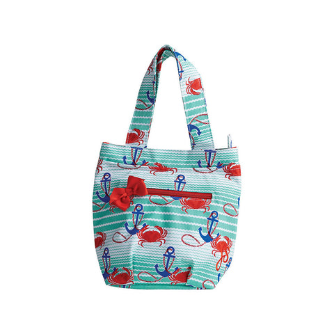 Nautical Waves Insulated Travel Tote