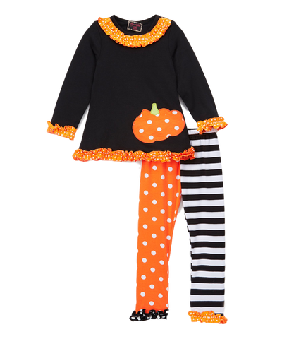 Black Stripe Pumpkin Top & Leggings