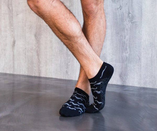 The Mo Classic Black Low Rise Non Slip Grip Socks