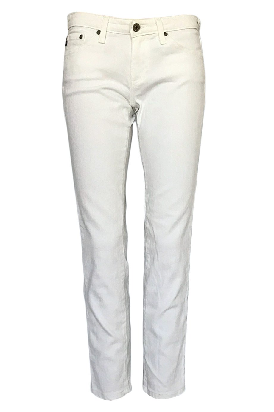 "AG Adriano Goldschmied White Denim ""The Stilt"" Straight Jeans / Sz 27-Style Therapy"