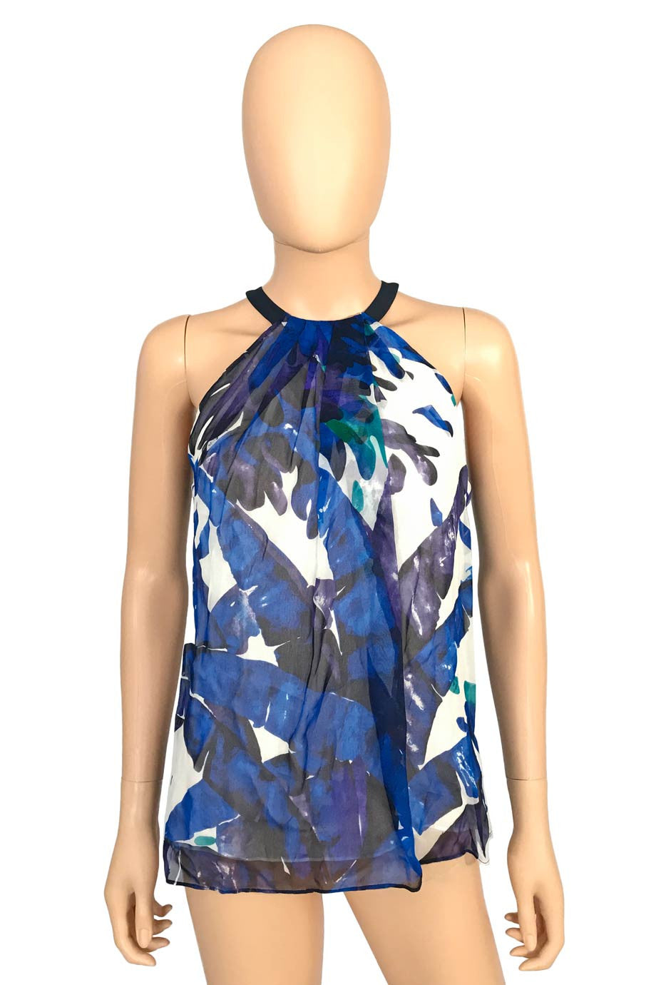 Worth New York Multi Color Silk Floral Print Sleeveless Top / Sz 0-Style Therapy