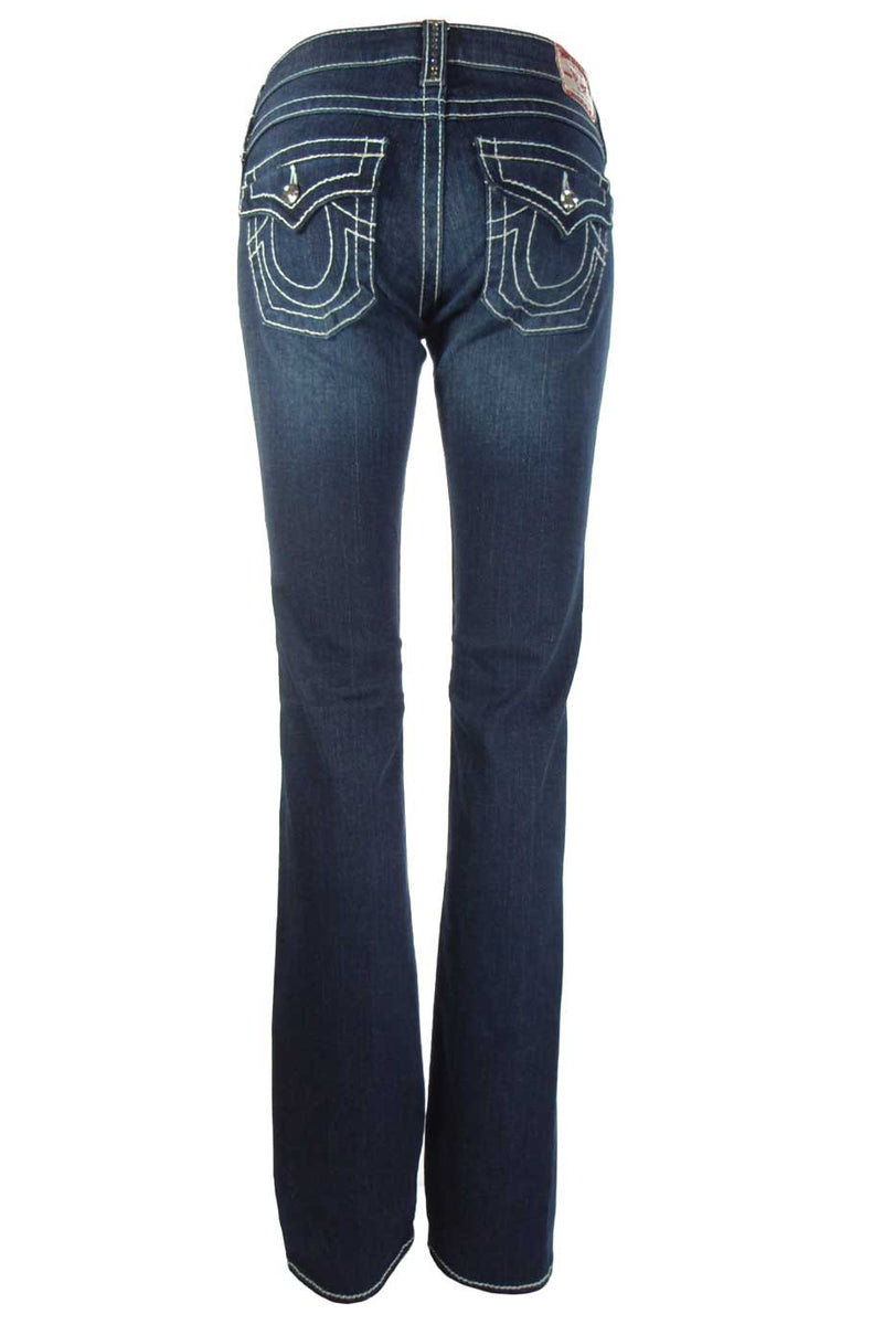 "True Religion Crystal Trim ""Disco Billy T"" Straight Leg Jeans / Sz 25 - Style Therapy  - 3"