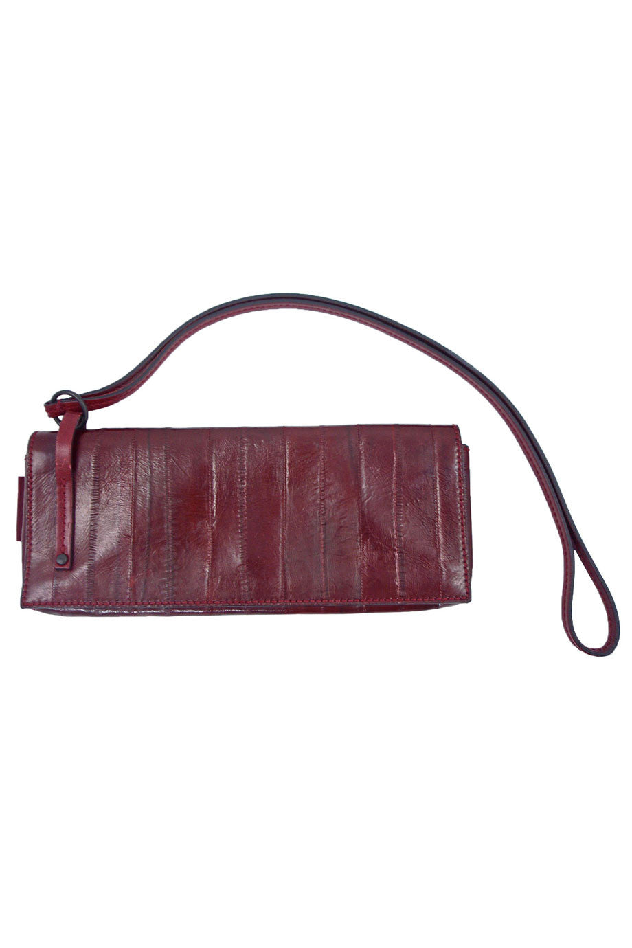 Gucci Sleek Burgundy Red Eel Skin Leather Clutch Bag - Style Therapy  - 1