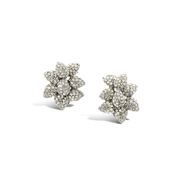 VINTAGE CINER DIAMANTE SMALL FLOWER EARRINGS