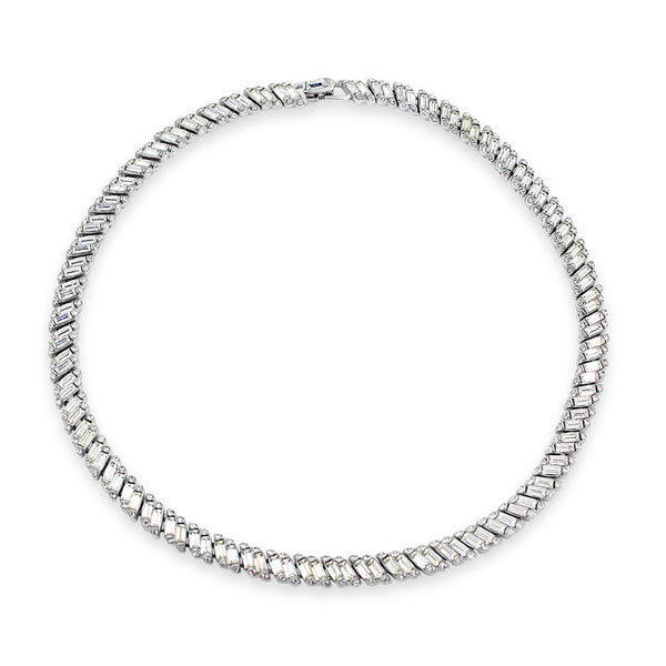 VINTAGE TRIFARI DIAMANTE CHOKER NECKLACE CIRCA 1960'S
