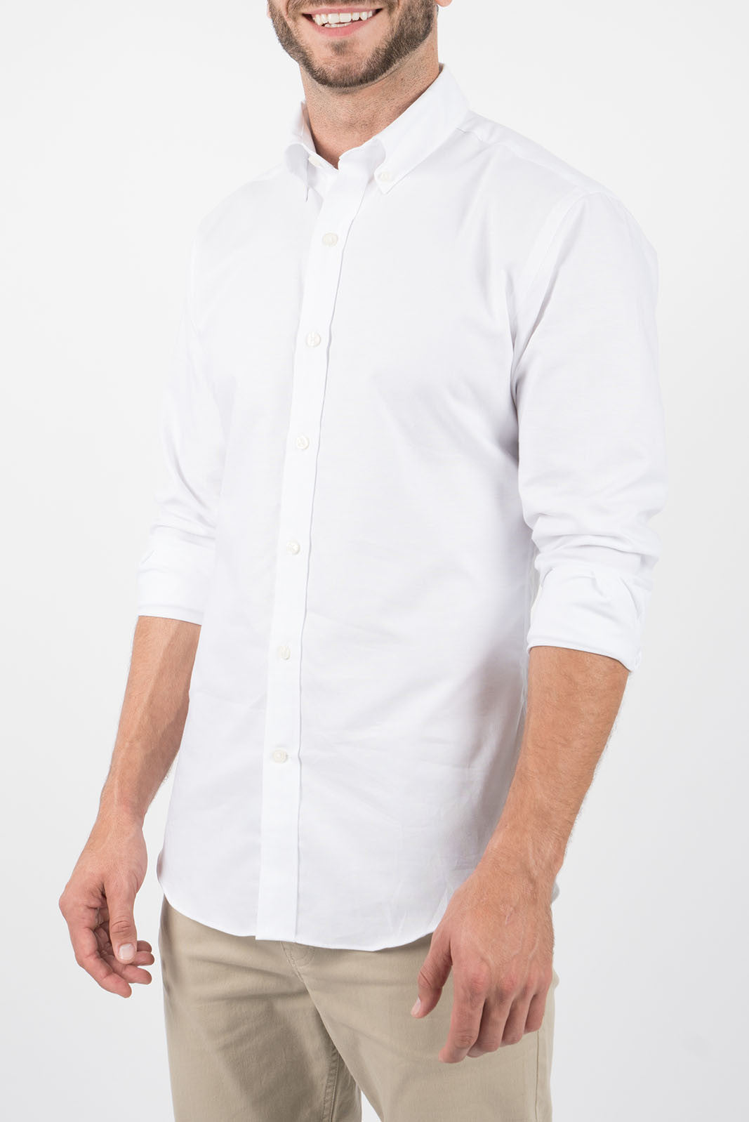 White Oxford: Button-Down Collar, Long Sleeve