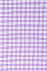 Performance Purple Gingham: Cutaway Collar, Barrel Cuff