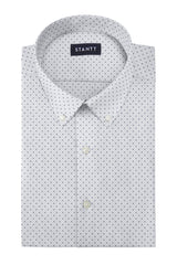 Performance White Dot: Button-Down Collar, Barrel Cuff