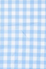 Duca Light Blue Gingham: Semi-Spread Collar, French Cuff