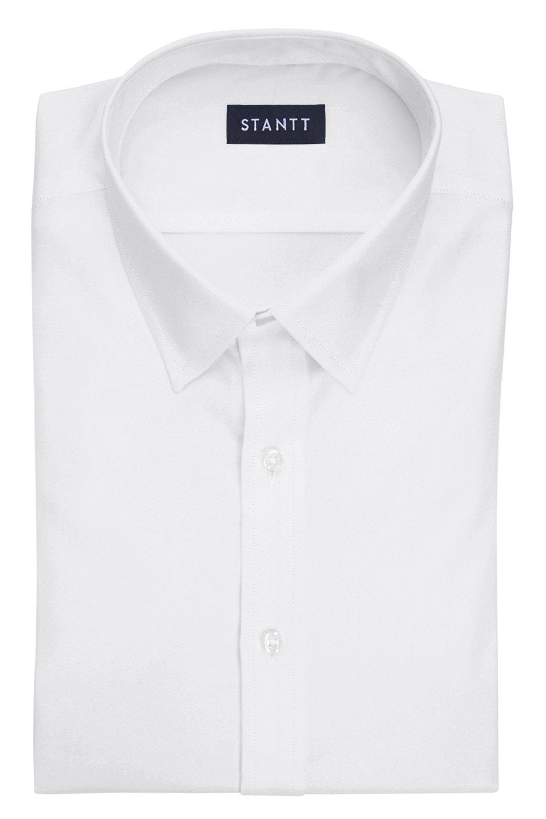 White Pinpoint Oxford: Semi-Spread Collar, French Cuff