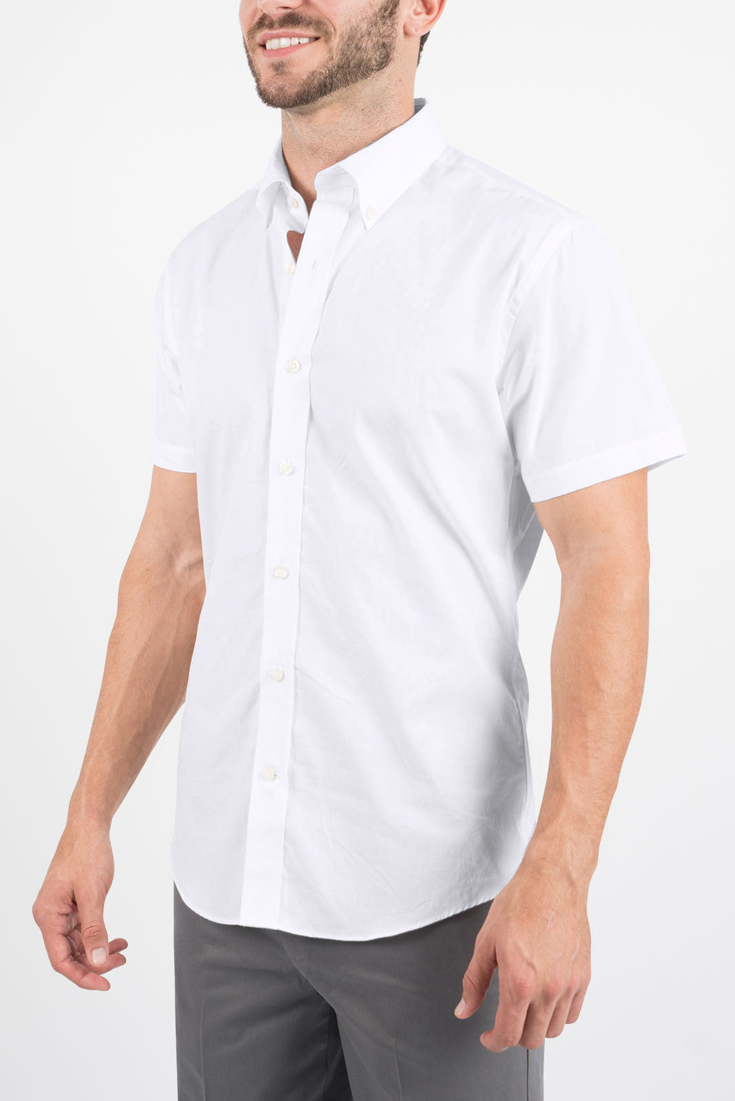 White Oxford: Button-Down Collar, Short Sleeve