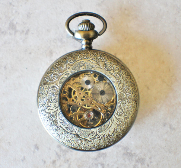 Lion Head Mechanical Pocket Watch - Char's Favorite Things - 5