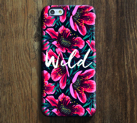 Floral Design Wild Slogan iPhone 6 Case/Plus/5S/5C/5/4S Dual Layer Durable Tough Case #713 - Acyc - 1