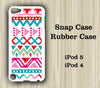 Aztec Geometric Pink Stripes iPod Touch 5 Case iPod Touch 4 Case - Acyc - 1
