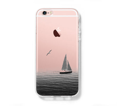 Sail Boat Sea iPhone 6s Clear Case iPhone 6 plus Cover iPhone 5s 5 5c Transparent Case Galaxy S6 Edge S6 S5 Case - Acyc - 1