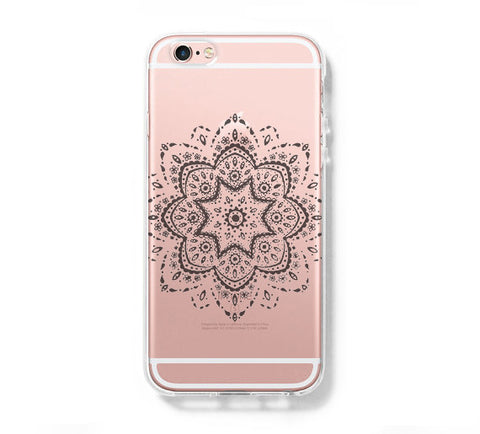 Retro Lace Floral iPhone 6s Clear Case iPhone 6 plus Cover iPhone 5s 5 5c Transparent Case Galaxy S6 Edge S6 S5 Case - Acyc - 1