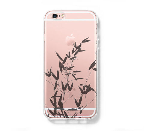 Bamboo Tree iPhone 6s 6 Clear Case iPhone 6 plus Cover iPhone 5s 5 5c Transparent Case Galaxy S6 Edge S6 S5 Case - Acyc - 1