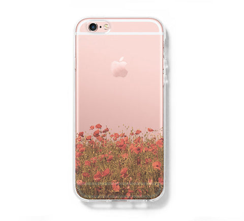Sunset Wild Flower iPhone 6s 6 Clear Case iPhone 6 plus Cover iPhone 5s 5 5c Transparent Case Galaxy S6 Edge S6 S5 Case - Acyc - 1