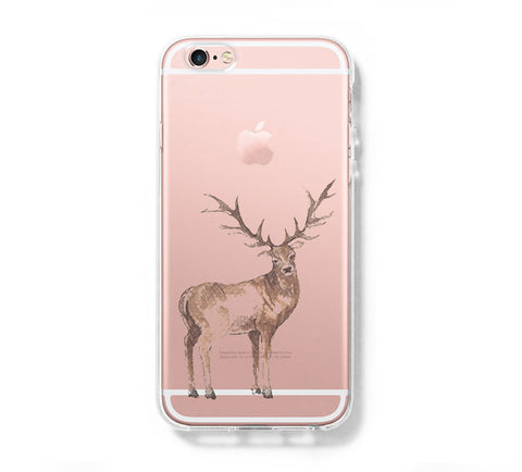 Deer iPhone 6s 6 Clear Case iPhone 6 plus Cover iPhone 5s 5 5c Transparent Case Galaxy S6 Edge S6 S5 Case - Acyc - 1