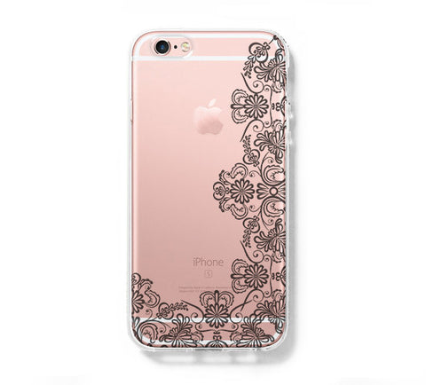 Lace Floral iPhone 6s 6 Clear Case iPhone 6 plus Cover iPhone 5s 5 5c Transparent Case Galaxy S6 Edge S6 S5 Case - Acyc - 1