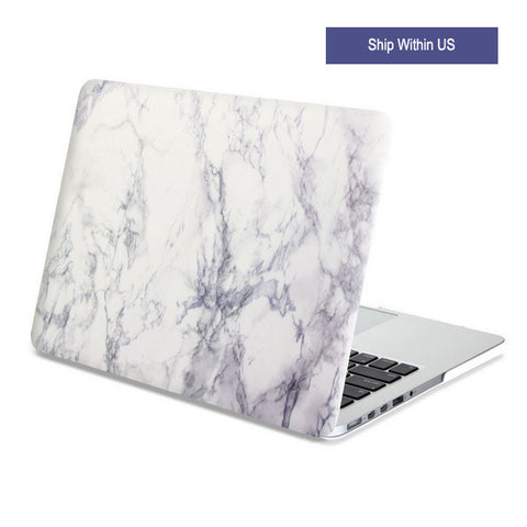 Hard Case Print Frosted White Marble Case Cover for Macbook Air Pro Retina 13 15 inch - Acyc - 1