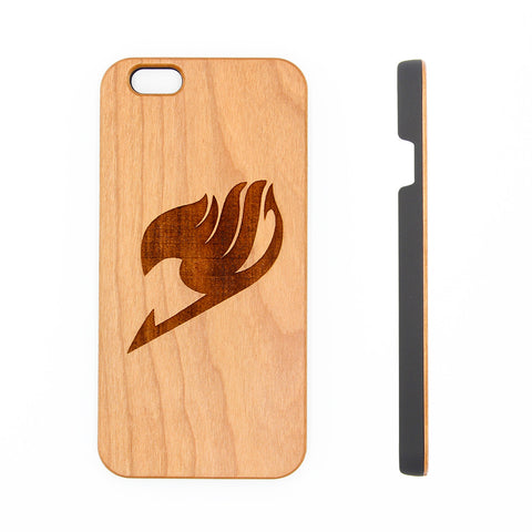 Fairy Tale Logo Symbol Anime Natural Wood Engraved iPhone 6s Case iPhone 6s plus Cover iPhone 6 5s 5 Real Wooden Case - Acyc - 1