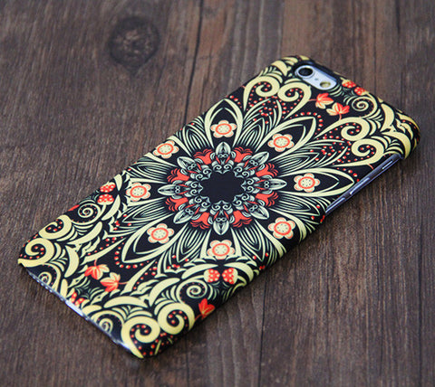 Ornament floral Tough iPhone 6s Plus/6/5S/5C/5/4S/4 Protective Case #333 - Acyc - 1