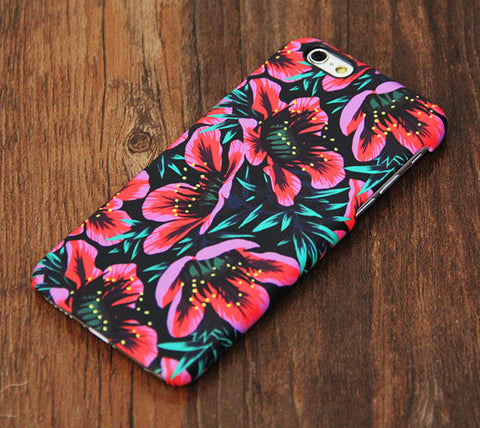 Elegant Chic Pink Floral Design iPhone 6s Case/Plus/5S/5C/5/4S Dual Layer Durable Tough Case #733 - Acyc - 1