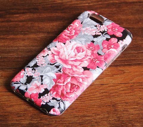 Stylish Floral Pattern iPhone 6s Plus/6/5S/5C/5/4S/4 Dual Layer Durable Tough Case #145 - Acyc - 1