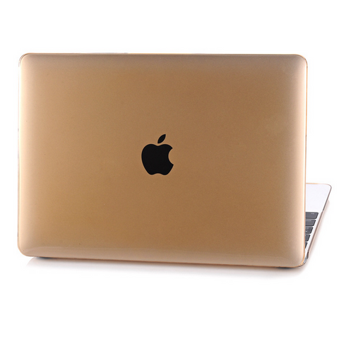 "Colorful Rubberized Matte Hard Case Cut out Cover for Macbook AIR  13"" PRO 13"" 15"" Retina 12"" 13"" 15"" -Gold - Acyc"