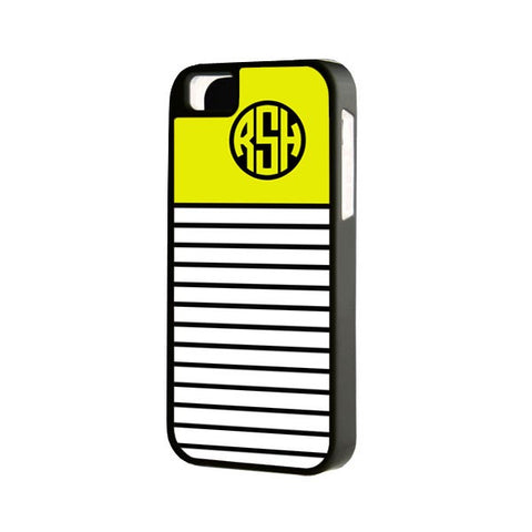 Yellow Lines Monogram iPhone Case and Samsung Case - Acyc - 1