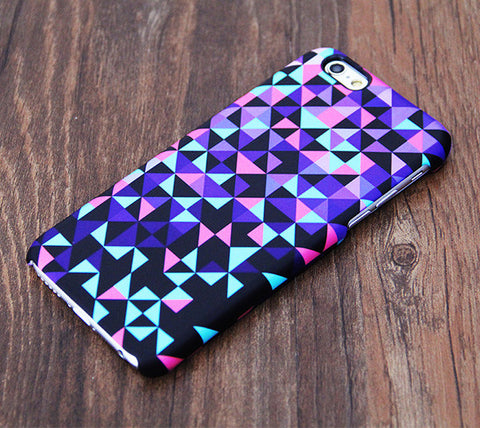 Purple Geometric Design iPhone 6S Case 6/Plus/SE/5S/5C/5/4S Dual Layer Tough Case #534 - Acyc - 1