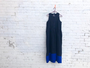 not-so-tuxedo frock in ink