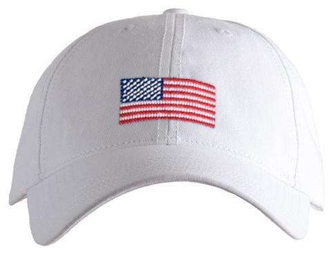 American Flag on White Cap